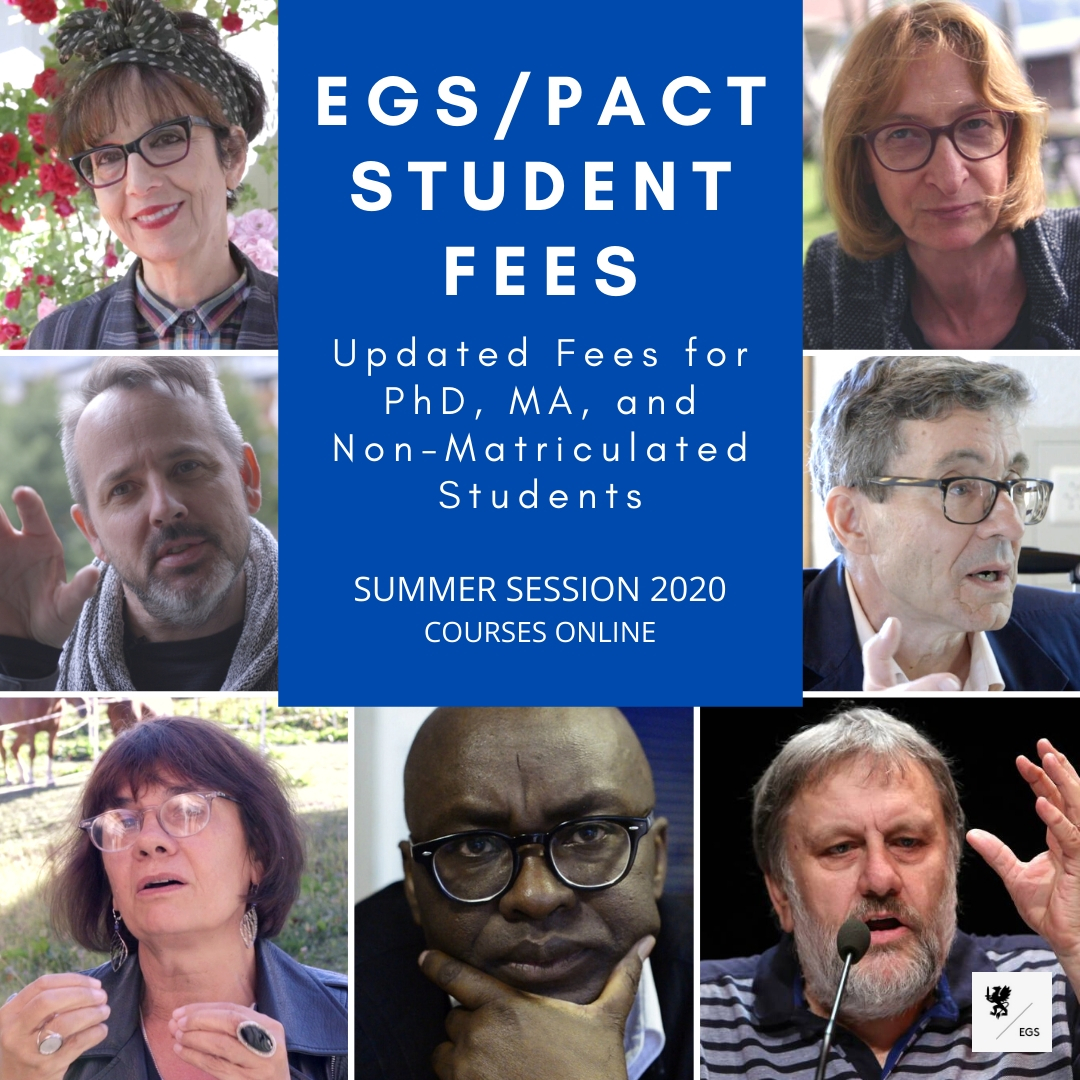 Updated EGS Student Fees for Summer Session 2020