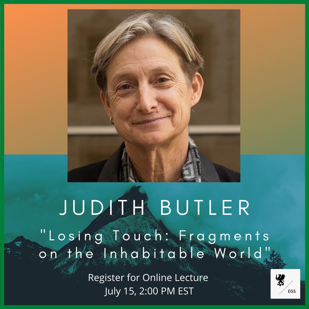 EGS Online Lecture: Judith Butler
