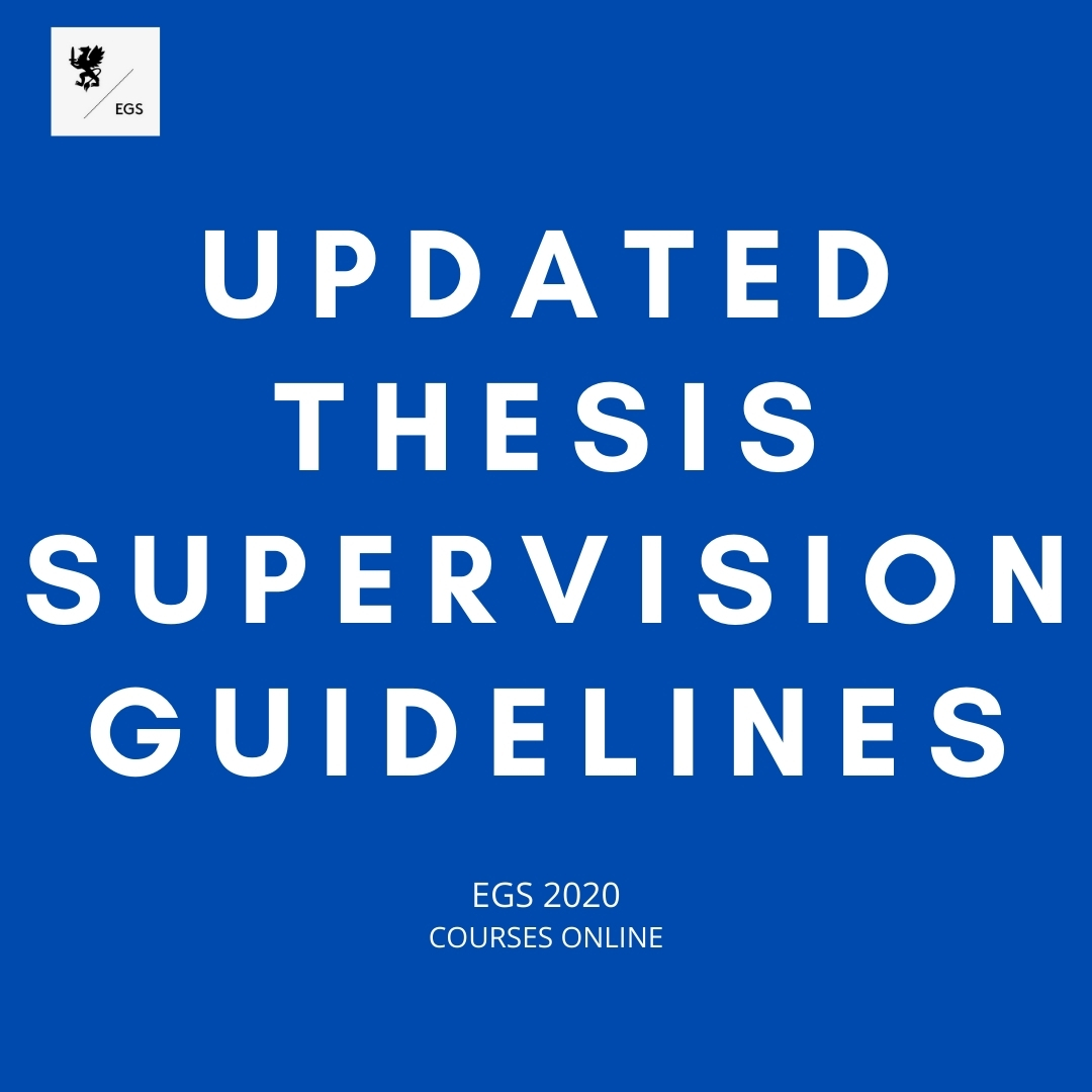 Updated Thesis Supervision Guidelines