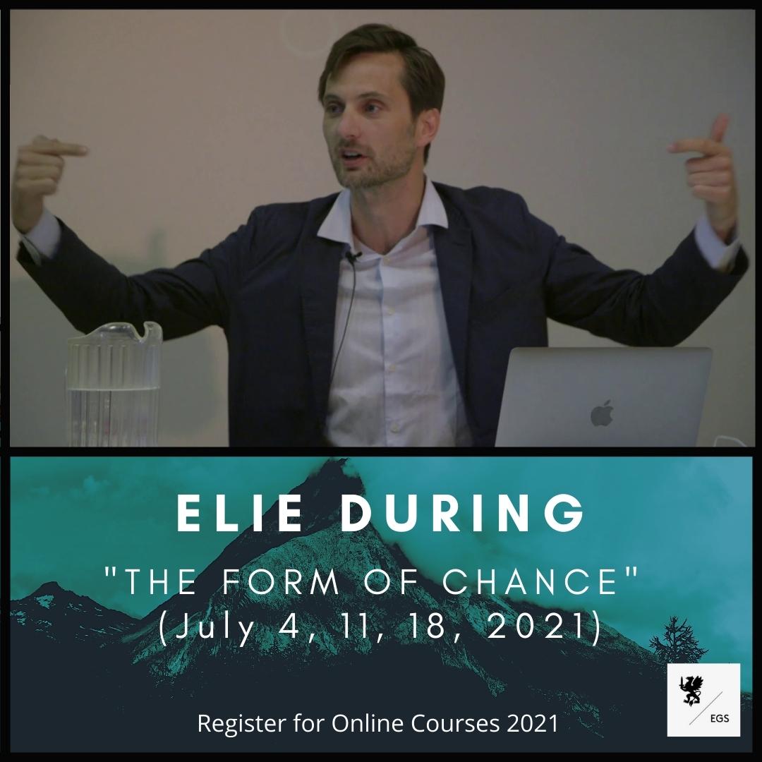 New EGS Seminar – Elie During