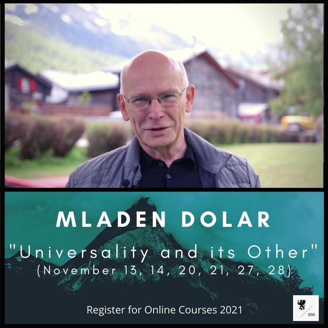 New EGS seminar – Mladen Dolar